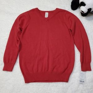 Other - Carter's Boys Red V-Neck Sweater 6 NWT